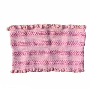 Silence + Noise Pink Tube Top XS/S